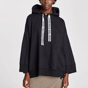 Zara black hoodie «made for everybody»